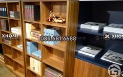Mẫu thiết kế tủ trang trí gỗ tự nhiên đẹp