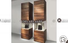 Tủ trang trí gỗ cho phòng khách đẹp, giá tốt