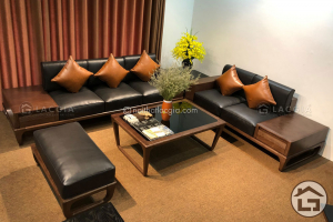 Sofa gỗ tự nhiên cao cấp, hiện đại, giá tốt