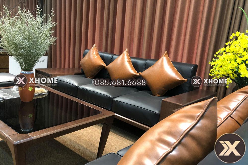 sofa go cao cap sf26 1 4 - Sofa gỗ sồi - Vẻ đẹp quyến rũ cho tết 2020 đầy ấn tượng