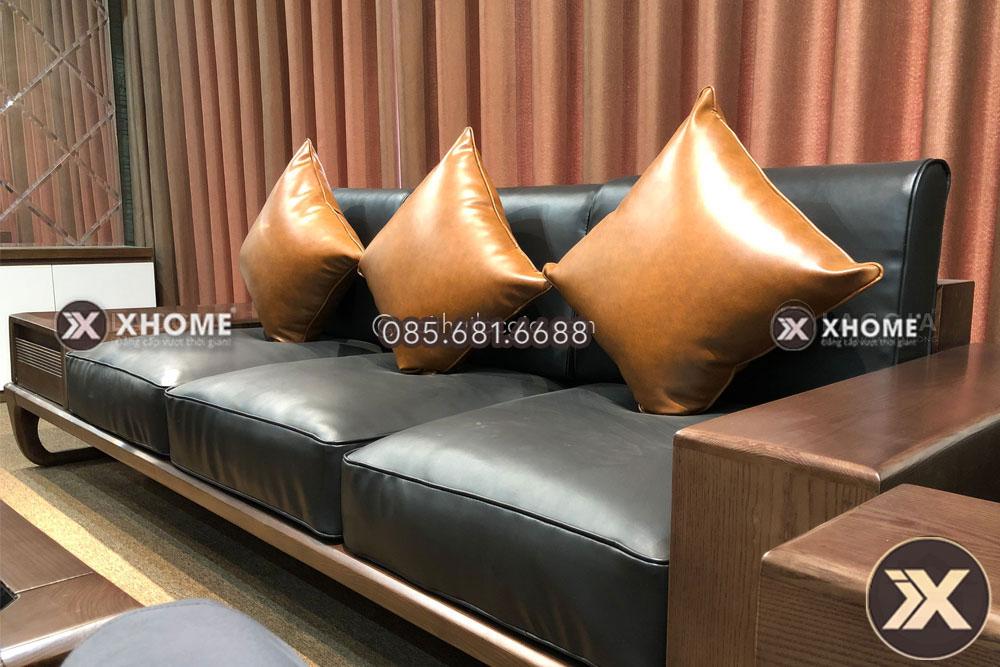 sofa go cao cap sf26 1 5 - Da Microfiber là loại da gì? Tìm hiểu đặc tính của da Microfiber