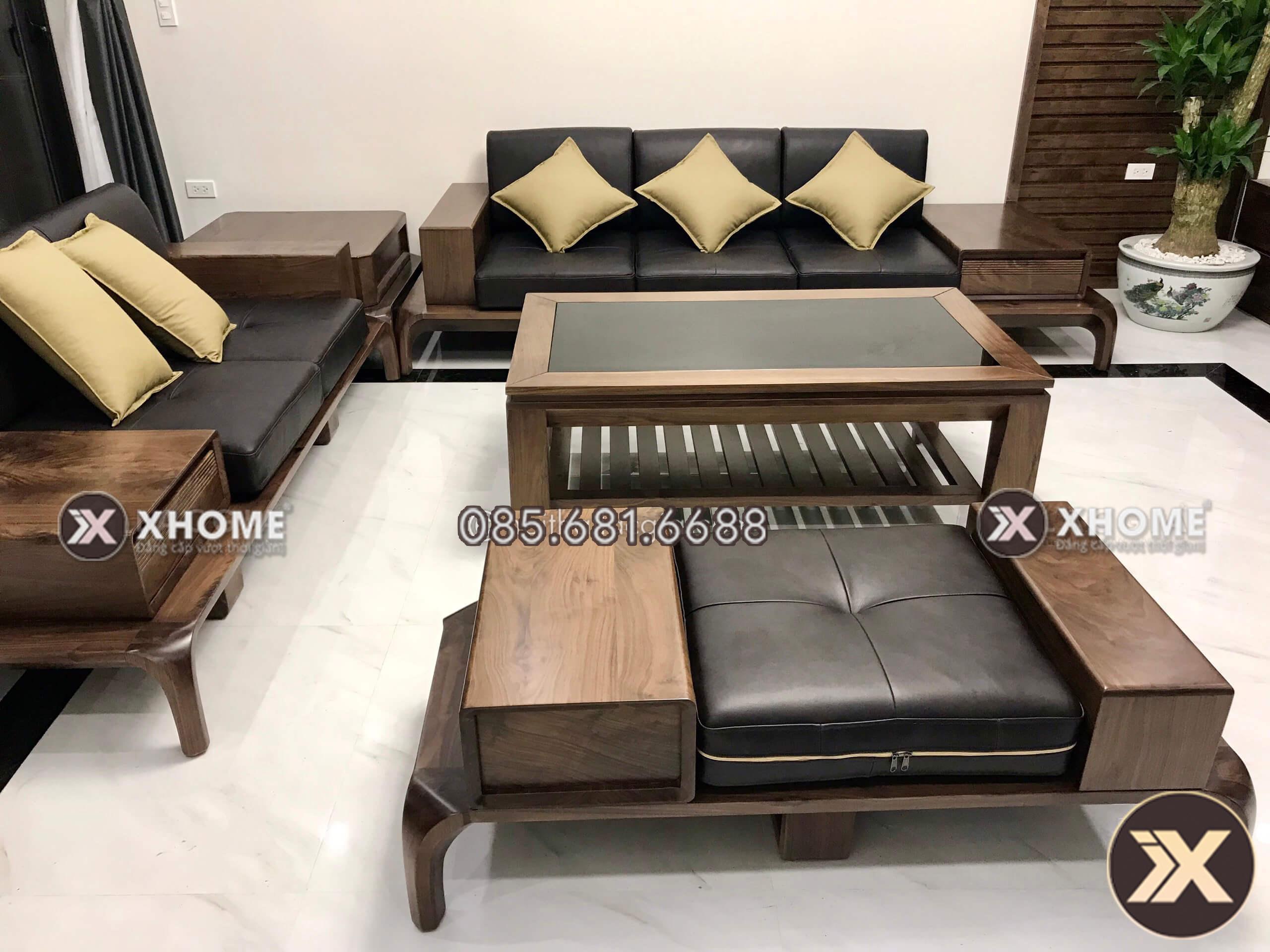 Sofa gỗ hiện đại, cao cấp
