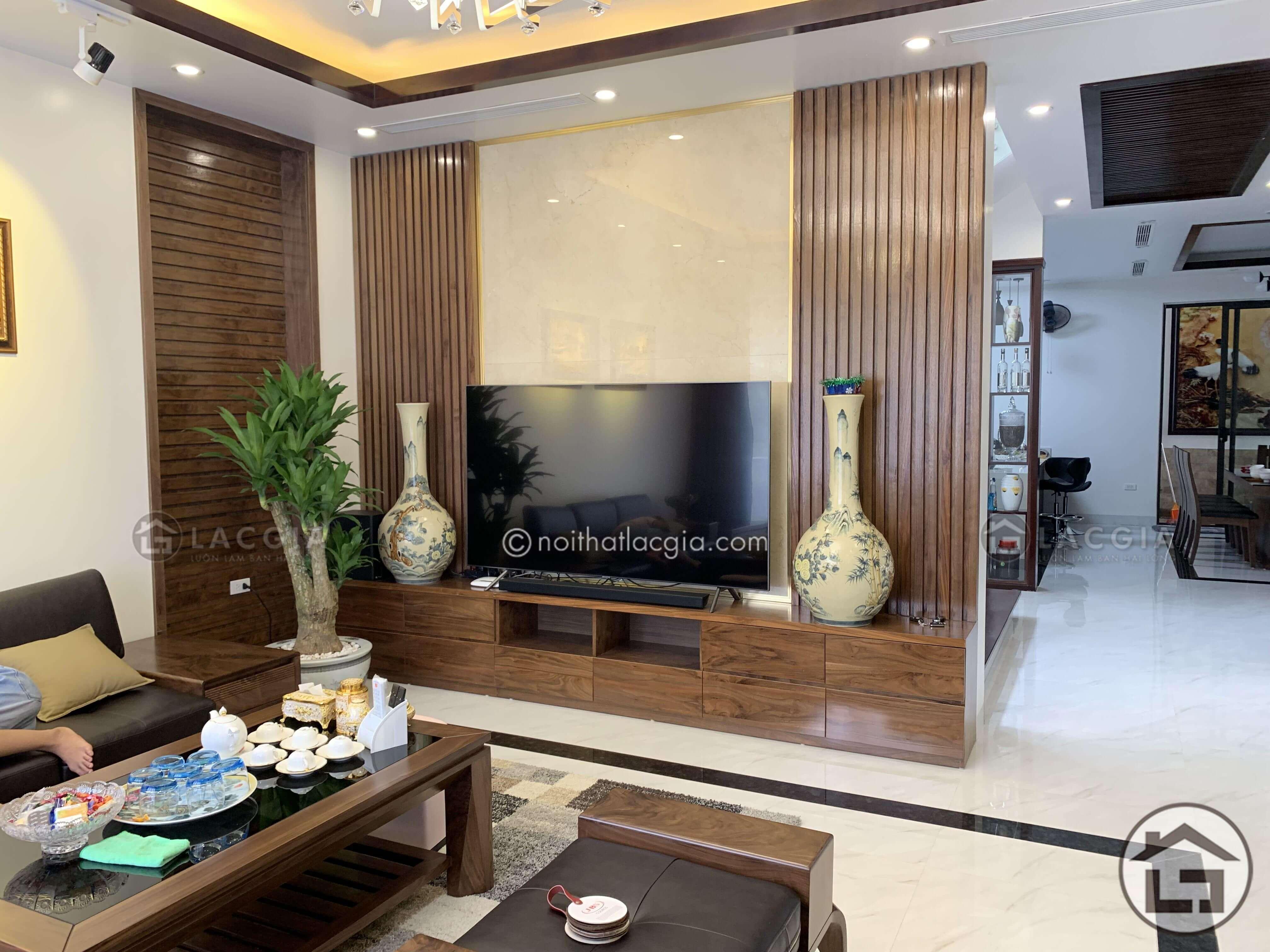 Thiết kế và thi công nội thất phòng khách tại Lạng Sơn