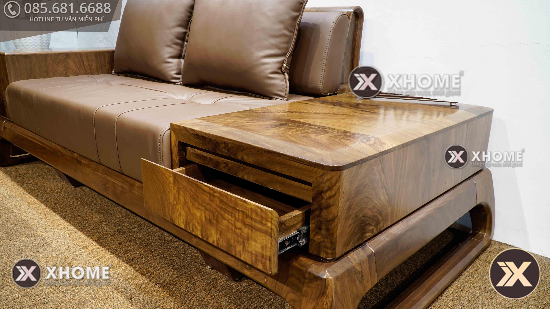 sofa go oc cho sf28 8 - Sofa gỗ óc chó hiện đại SF28