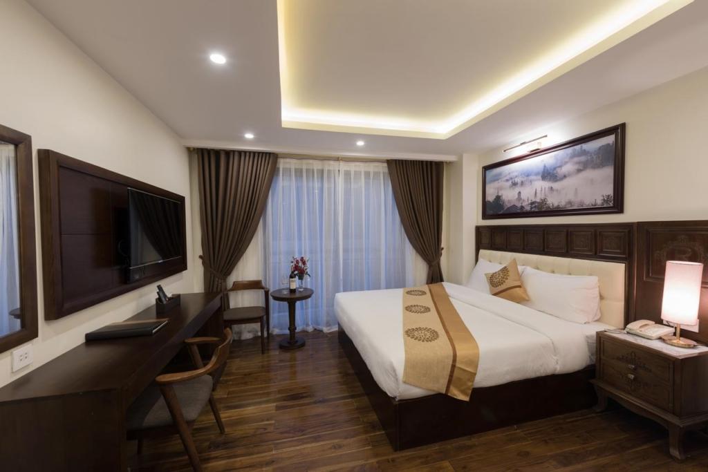 thi cong noi that khach san 4 sao relax hotel sapa spa 16 - Thiết kế nội thất cho phòng ngủ 15m2 hiện đại, cao cấp