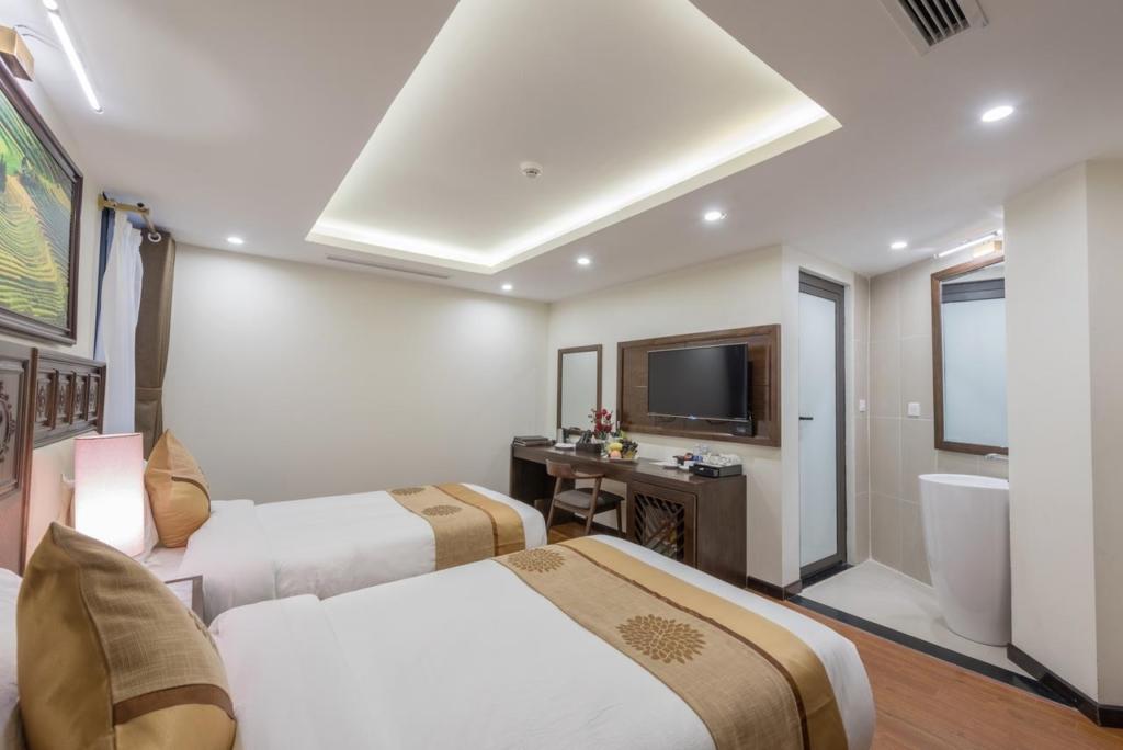 thi cong noi that khach san 4 sao relax hotel sapa spa 2 - Có nên kê 2 giường trong phòng ngủ không?