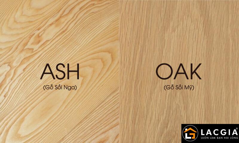 phan biet go soi nga va go soi my - Sofa gỗ sồi Mỹ - những đặc điểm mà bạn không nên bỏ qua