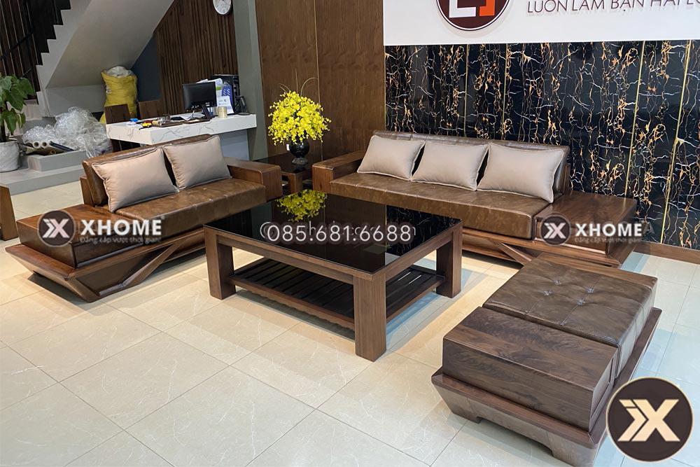 Sofa gỗ sồi Nga đẹp SF29