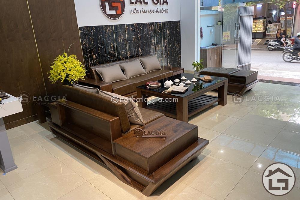 sofa go soi nga sf29 15 - Cách lựa chọn nội thất gỗ hiện đại đúng chuẩn cho gia đình
