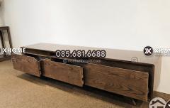 Kệ tivi gỗ sồi Nga đẹp cho phòng khách hiện đại
