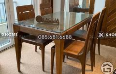 Bàn ghế ăn gỗ đẹp BA17
