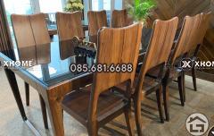 Bàn ghế ăn gỗ hiện đại BA18