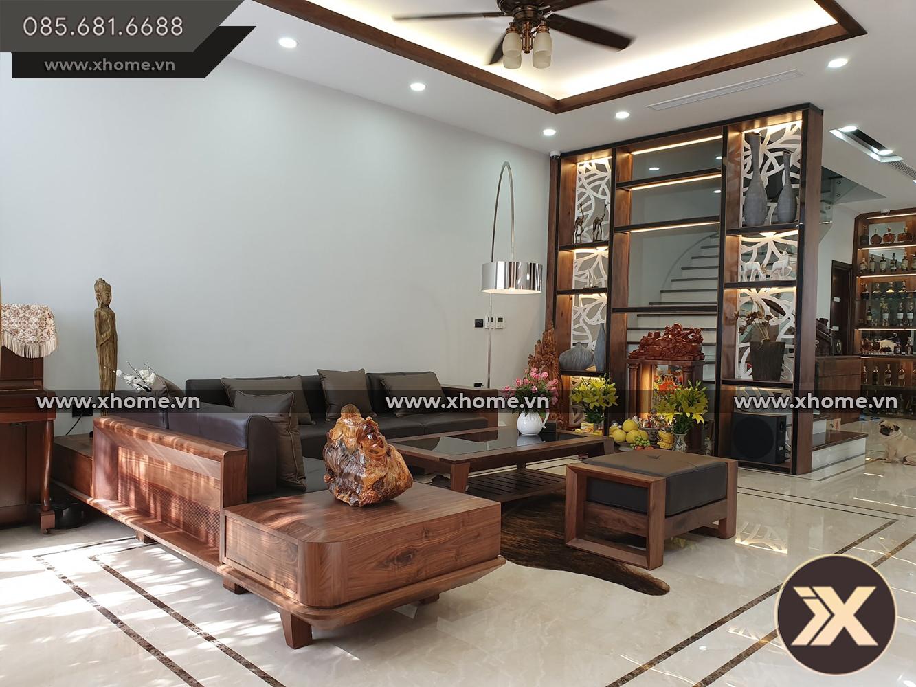 sofa go - 5 Mẹo nhỏ giúp bạn bố trí nội thất phòng khách nhỏ hẹp trở nên rộng rãi